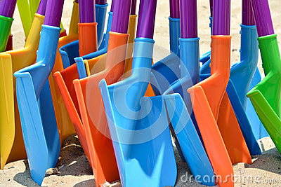 Colorful toy shovel