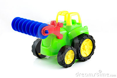 Colorful toy tractor