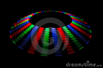 Colorful trace rotating LED in form of a disc