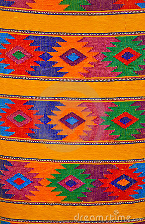 Colorful traditional Mayan weaving, Guatemala
