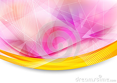Colorful transparent banner with border