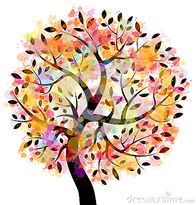 Free Colorful Tree Royalty Free Stock Photos - 26603568