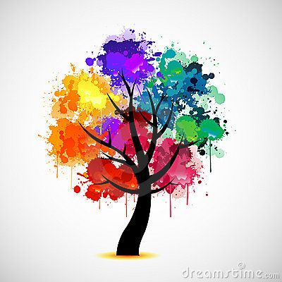 Free Colorful Tree Abstract Illustration Royalty Free Stock Image - 19404016