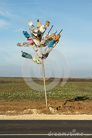 Free Colorful Tree From Plastic Bottles. The Idea Of Recycling And Waste Reduction Royalty Free Stock Image - 86902356