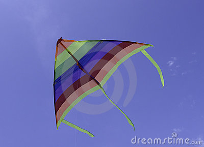 Colorful triangle kite