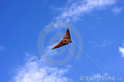A colorful triangle, textile kite
