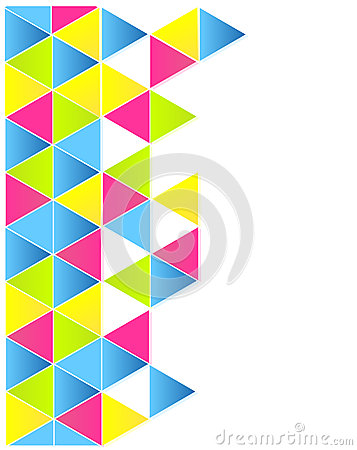 Colorful triangles layout