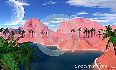 Colorful tropical landscape