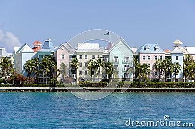 Colorful tropical resort