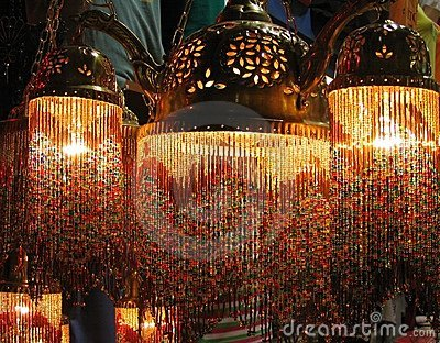 Colorful Turkish lamps in the Grand Bazaar, Istanbul, Turkey