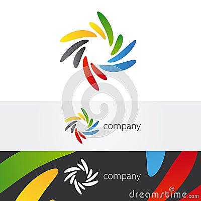 Colorful Twirl Petals Logo