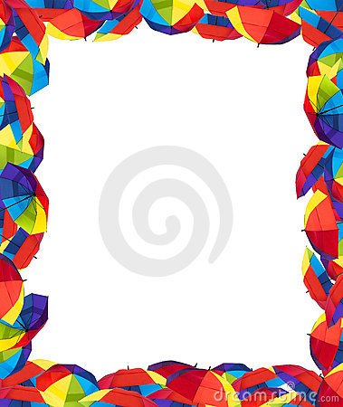 colorful umbrella border stock images image 15466464