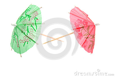 Colorful umbrellas for icecream and cocktail