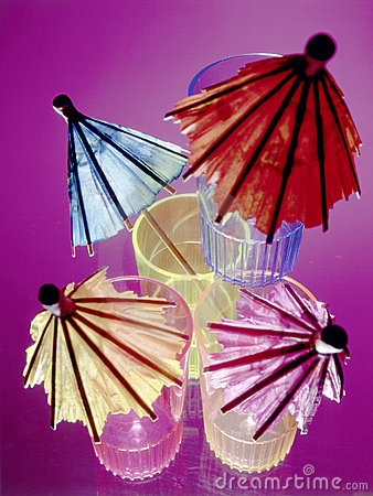Free Colorful Umbrellas In Shot Glasses Stock Images - 5262034