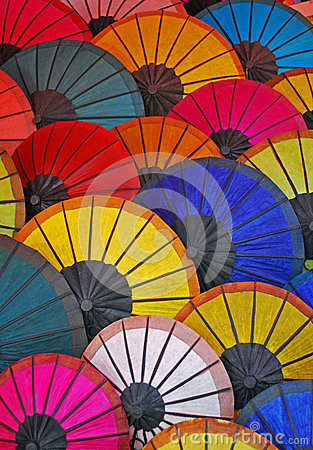 Colorful umbrellas from Laos