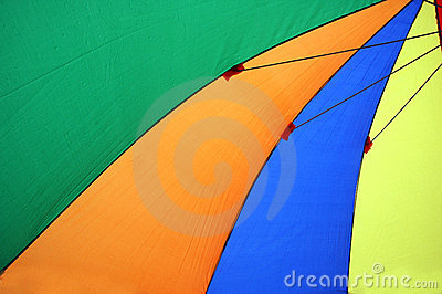 Colorful umbrellas tents