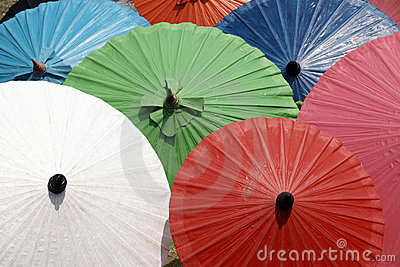 Colorful umbrellas texture background