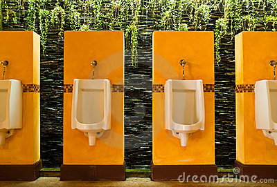 Colorful of urinals