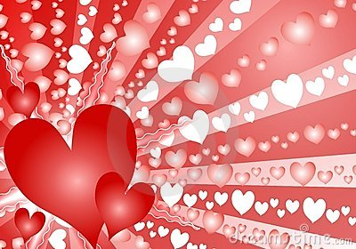 Colorful Valentine s Day Heart Background
