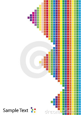 Colorful vector background in pixel-graphic style