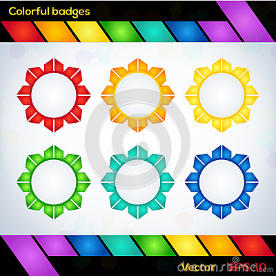 Colorful vector badges