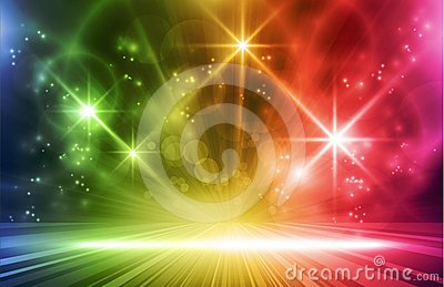 Colorful vector light effects