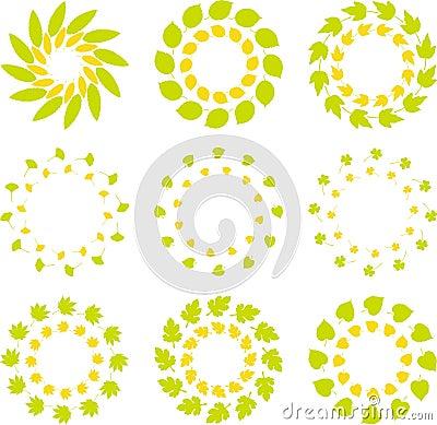 Colorful vector logo template set