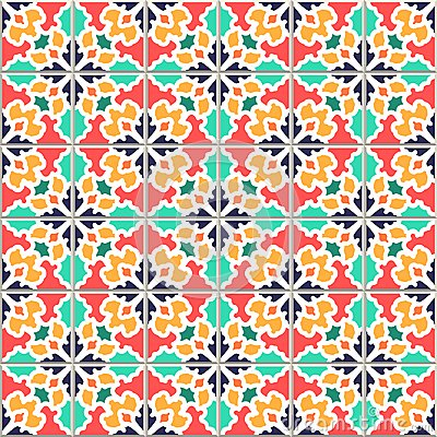 Free Colorful Vector Seamless Pattern, Based On Traditional Wall And Stock Photos - 112731663