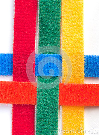 Free Colorful Velcro Strips Braided Stock Photography - 28084662