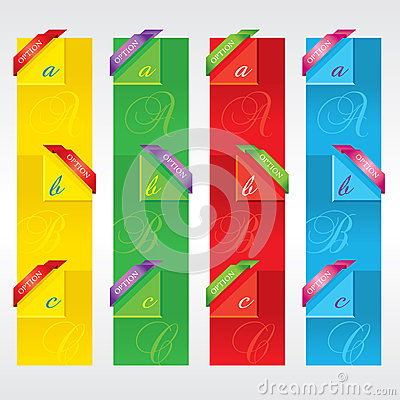 Colorful Vertical Banners.