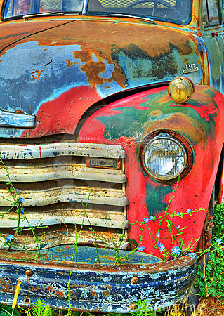 Free Colorful Vintage Truck Stock Image - 22137761
