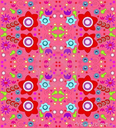Colorful wallpaper design (seamless)
