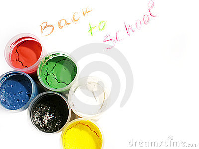 Colorful water-colors, back to school