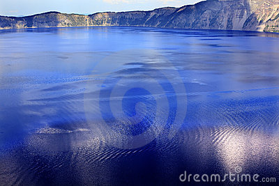 Colorful Waters Blue Crater Lake Reflection Oregon