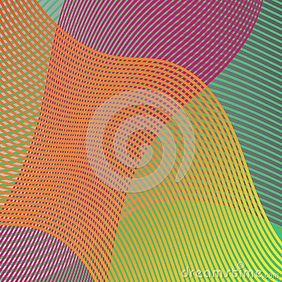 Free Colorful Wavy Lines In An Abstract Background Design Vector In Waves Of Purple Orange Green Yellow And Pink Stock Image - 118217951