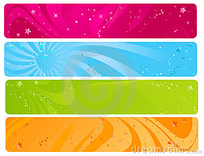 Colorful web banners