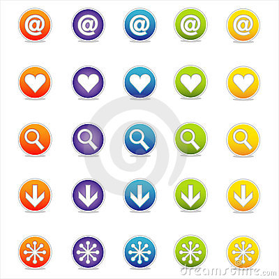 Colorful Web Icons 1 (Vector)