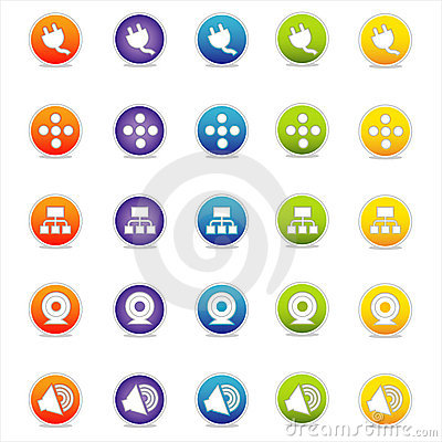 Colorful Web Icons 4 (Vector)
