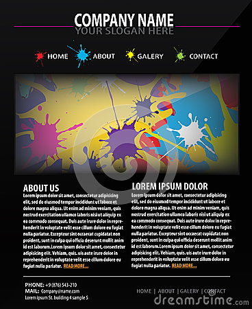 Colorful Web site design template