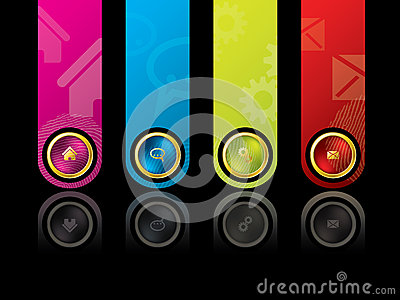 Colorful wesbite design template
