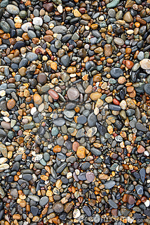Colorful wet stones