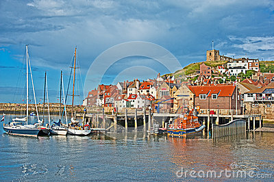Colorful Whitby scenic tourist destination Editorial Stock Photo