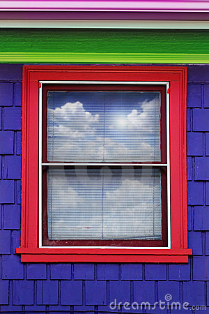 Colorful window exterior