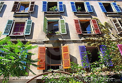Colorful window shutters