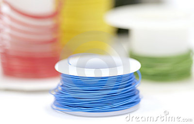 Colorful wire rolls