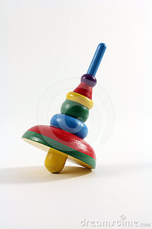 Colorful Wooden Children's Toy Top