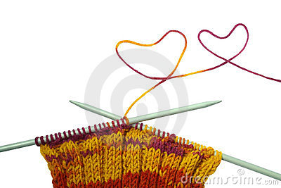 Colorful wool knitting