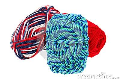Colorful wool yarn