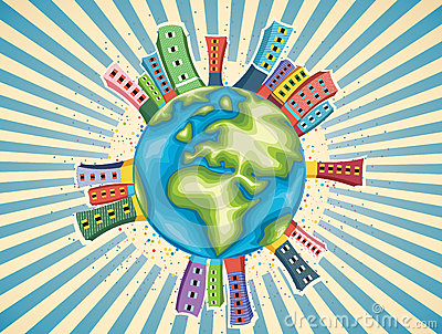 Colorful World Day Vector Illustration