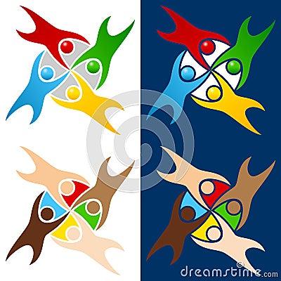 Colorful World People Logo